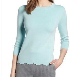 Halogen Scallop Edge Sweater Sz Small Petite BNWT